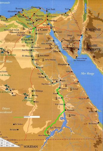 carte générale Egypte