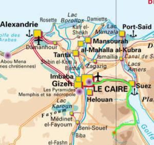 itinéraire monastères map
