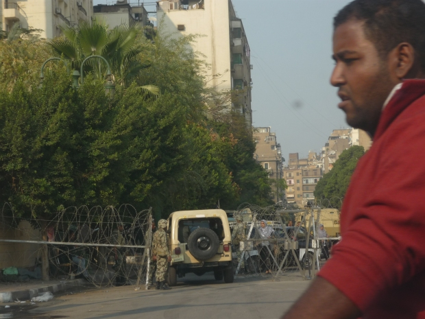check point Le Caire