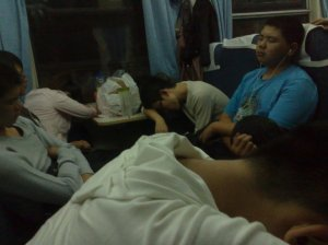 dans le train chinois