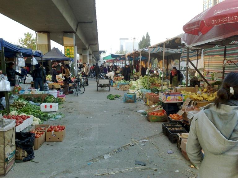 Un marché à Pékin